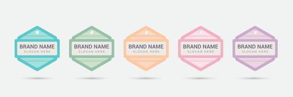 ícone do emblema do logotipo para produtos femininos, online, alimentos, culinária, loja, etc. colorido com cor pastel. modelo de design de ilustração vetorial. vetor