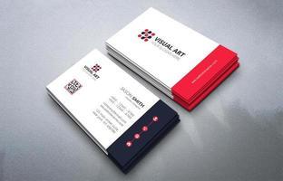 cartão de visita simples em preto e vermelho vetor