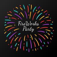 Festa de fogos de artifício de celebração vetor