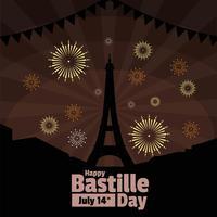 dia da Bastilha vetor