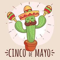 Engraçado Cinco De Mayo Vector