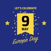 Fundo de celebração do dia da Europa vetor