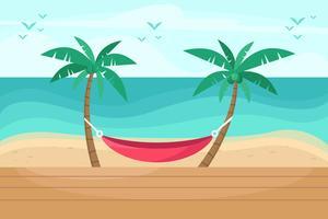 Vetor de resort de praia