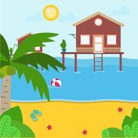 Ilustração de resort de praia vetor