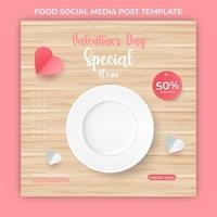 postagem de mídia social de comida