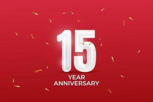 Aniversário de 15 anos vetor