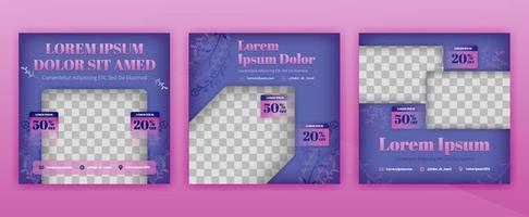 design de posts de moda mística para mídia social e pacote de revistas. o design de ilustração vetorial pode ser usado para site, página da web, cartaz, folheto, plano de fundo, outdoor, carta impressa, convite, anúncios