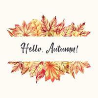 olá quadro de outono vetor