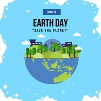 Ilustração do Dia da Terra vetor