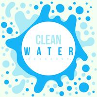 Cartaz da defesa da agua potável vetor