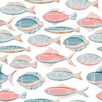 peixe rosa azul vetor