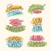 coleção de ícone de verão