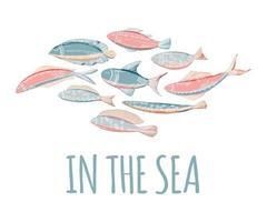 desenho de peixes de desenho animado vetor