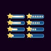 conjunto de barra estrela de progresso de fantasia gui para ilustração vetorial de elementos de ativos de interface do usuário do jogo