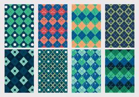 Conjunto de vetores de padrão de golfe vintage