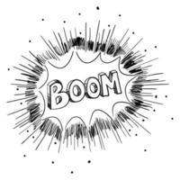 esboço ilustração de uma explosão cômica vetor