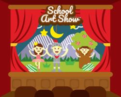 Vetor de arte de show de escola