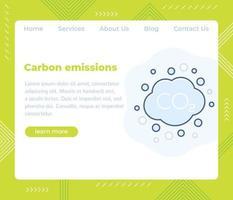 emissões de carbono, website vector template.eps
