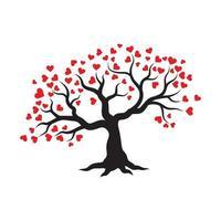 projeto de ilustração vetorial amor galho de árvore vetor