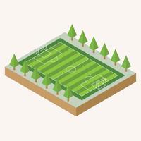 Vetor de ilustração de campo de futebol isométrica
