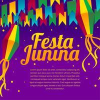 vetor de saudação festa junina