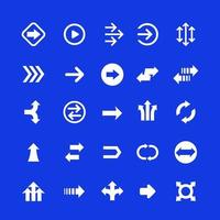 conjunto de setas, ícones de direção, vector.eps vetor