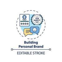 construção de ícone de conceito de marca pessoal vetor