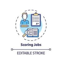 ícone do conceito de pontuação de empregos vetor