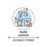 ícone do conceito de palestras de áudio vetor
