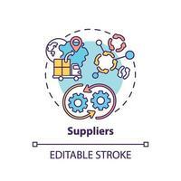 ícone do conceito de fornecedores