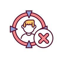 evitar matar pessoas ícone de cor rgb vetor