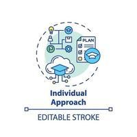ícone do conceito de abordagem individual