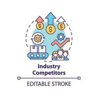 ícone do conceito de concorrentes da indústria