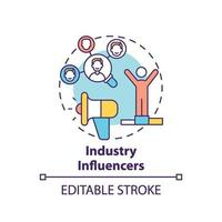 ícone do conceito de influenciadores da indústria