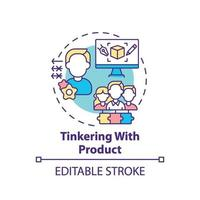 mexendo no ícone do conceito de produto