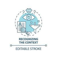 reconhecendo o ícone do conceito de contexto vetor