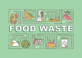 faixa de conceitos de palavras resíduos de alimentos