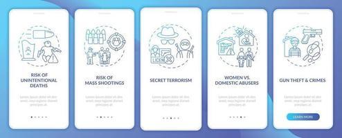 risco de filmar a tela da página do aplicativo móvel em azul escuro com conceitos