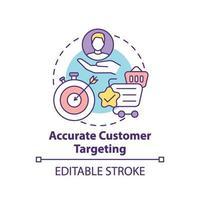 ícone preciso do conceito de segmentação do cliente vetor