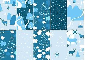 Pacote de padrões vetoriais Chilly Winter vetor