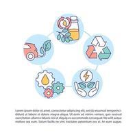 ícone de conceito de recuperação e reciclagem de óleo usado com texto