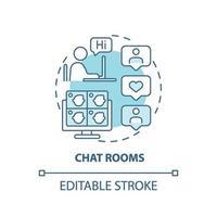 ícone do conceito de salas de chat vetor