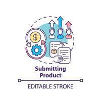 enviando ícone de conceito de produto vetor