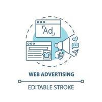 ícone do conceito de publicidade na web