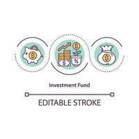 ícone do conceito de fundo de investimento vetor