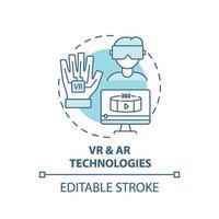 ícone do conceito de tecnologias VR e AR