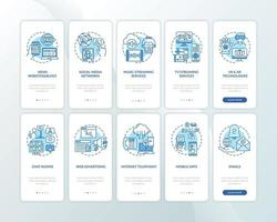 novos exemplos de mídia integrando tela de página de aplicativo móvel com conjunto de conceitos