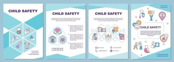 modelo de folheto de segurança infantil