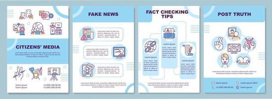 modelo de folheto de mídia cidadã