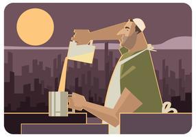 vetor de fabricante de comida de rua de gaza